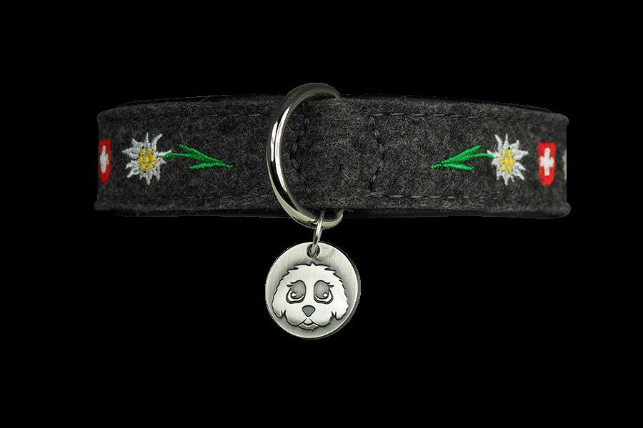 Filz Halsband Silber