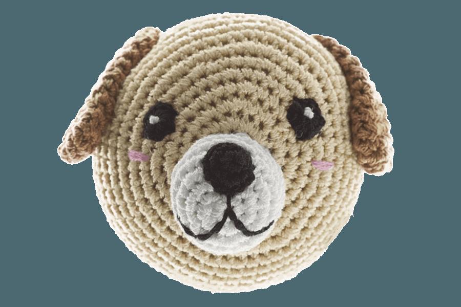 Strick-Hundekopf- wunderbar zum schütteln und spielerischen kämpfen. Wenn man den Hundekopf drückt animiert ein Geräusch zum spielen.