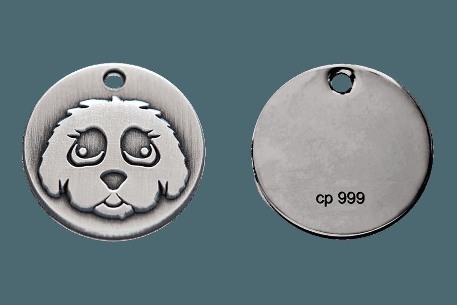 Limitierte, massive Silbermünze 99,9%. Gebürstet und auf der Rückseite mit Feinsilber-Stempel. Auf Wunsch mit zusätzlicher, individueller Lasergravur. Lieferung mit Echtheitszertifikat.