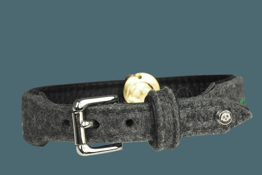 Grauer Filz und Niete in Silberoptik