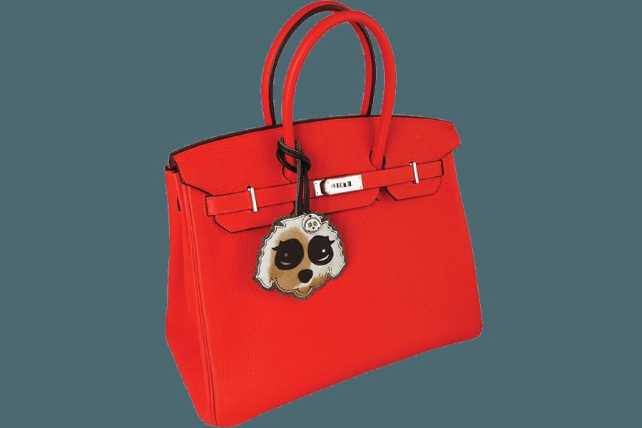 Birkin rot ist nicht Bestandteil der Lieferung, sondern lediglich als Dekoration